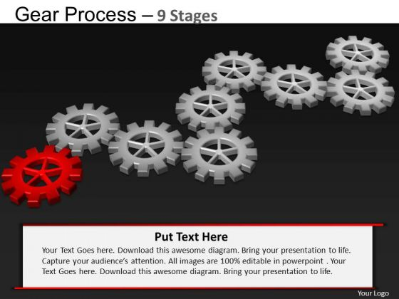 PowerPoint Process Process Gears Process Ppt Presentation