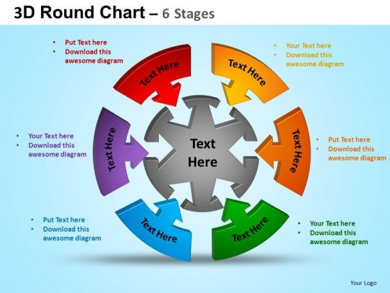 PowerPoint Process Process Round Process Flow Chart Ppt Slide