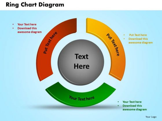 PowerPoint Process Ring Chart Diagram Marketing Ppt Template