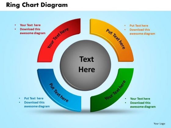 PowerPoint Process Ring Chart Diagram Strategy Ppt Templates
