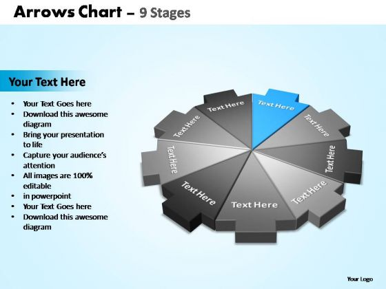 PowerPoint Process Sales Arrows Chart Ppt Themes