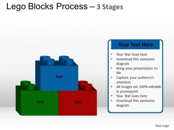 PowerPoint Process Sales Lego Blocks Ppt Presentation