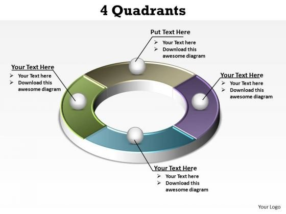 PowerPoint Process Sales Quadrants Ppt Templates