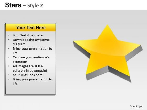 PowerPoint Process Sales Stars Ppt Layout