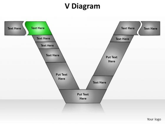 PowerPoint Process Sales V Diagram Ppt Designs