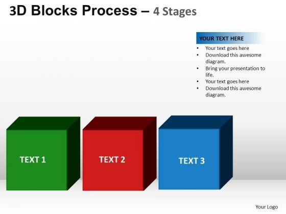 PowerPoint Process Strategy Blocks Process Ppt Slide