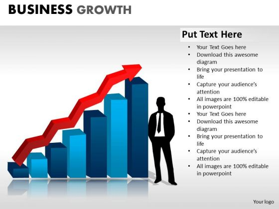 PowerPoint Process Strategy Business Growth Ppt Slides