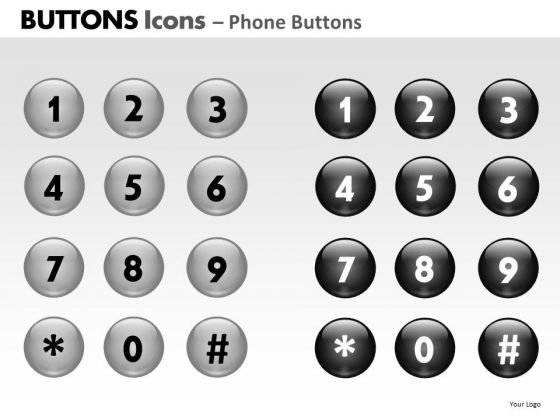 PowerPoint Process Strategy Buttons Icons Ppt Presentation