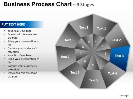 PowerPoint Process Strategy Circular Quadrant Ppt Theme