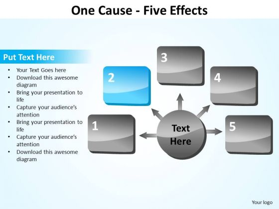 PowerPoint Process Strategy Five Effects Ppt Backgrounds