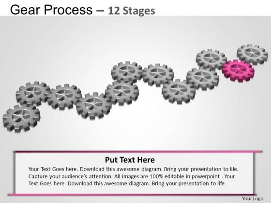 PowerPoint Process Strategy Gears Process Ppt Theme