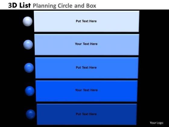 PowerPoint Process Strategy List Planning Ppt Design Slides