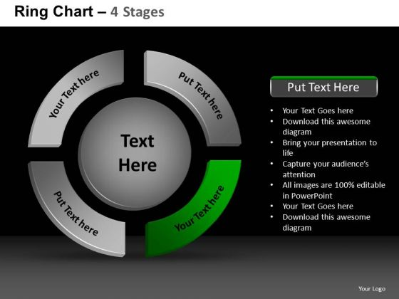 PowerPoint Process Strategy Ring Chart Ppt Presentation