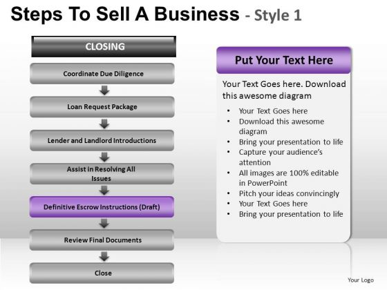 PowerPoint Process Strategy Steps To Sell Ppt Templates