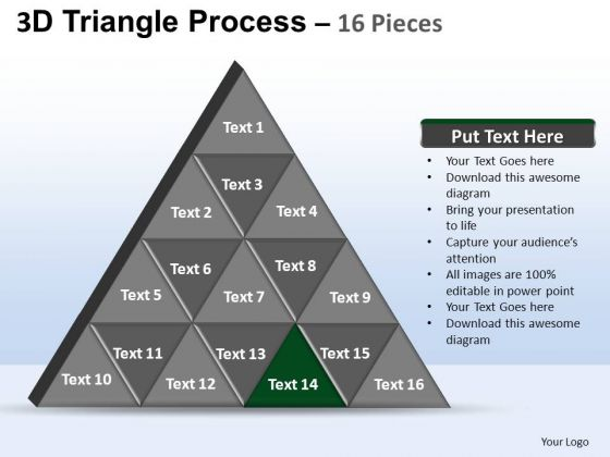 PowerPoint Process Strategy Triangle Process Ppt Presentation