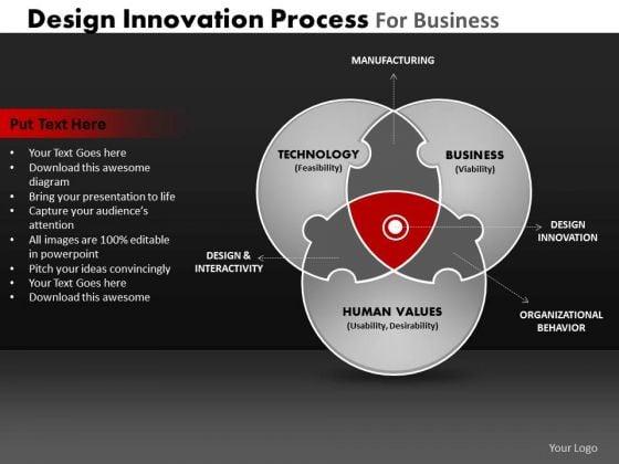 PowerPoint Process Strategy Venn Diagram Ppt Slides