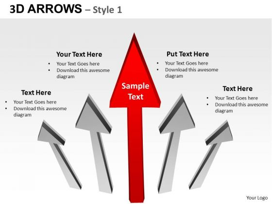 PowerPoint Process Success Arrows Ppt Slides