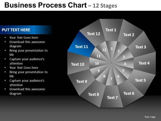 PowerPoint Process Success Chart Ppt Slides
