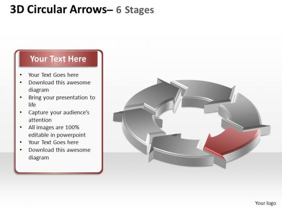 PowerPoint Process Success Circular Arrows Ppt Templates