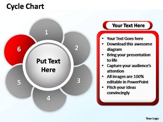 PowerPoint Process Success Cycle Chart Ppt Slide Layout
