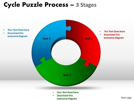 PowerPoint Process Success Cycle Diagram Puzzle Ppt Themes