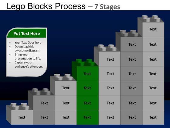 PowerPoint Process Success Lego Blocks Ppt Design