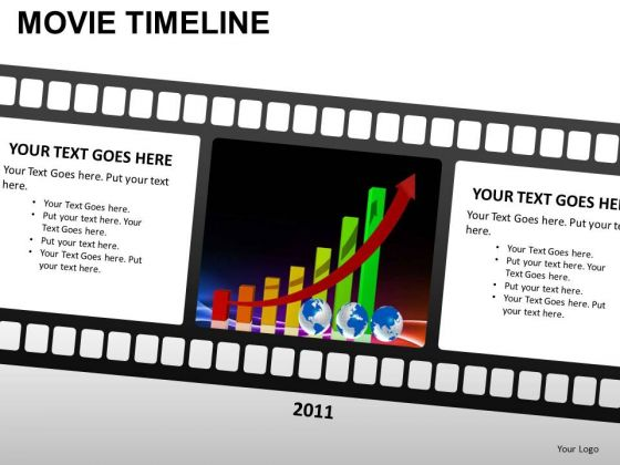 PowerPoint Process Success Movie Timeline Ppt Slides