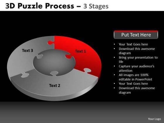 PowerPoint Process Success Pie Chart Puzzle Process Ppt Slidelayout
