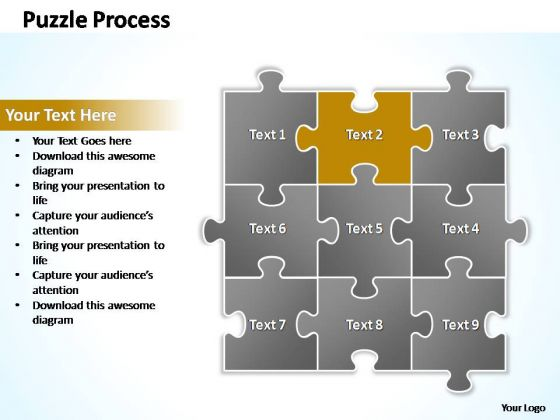 PowerPoint Process Success Puzzle Ppt Slides
