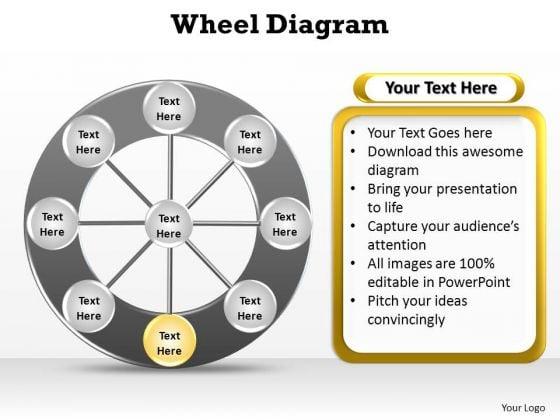 PowerPoint Process Success Wheel Diagram Ppt Themes