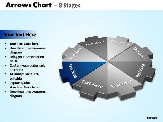 PowerPoint Process Teamwork Arrows Chart Ppt Theme