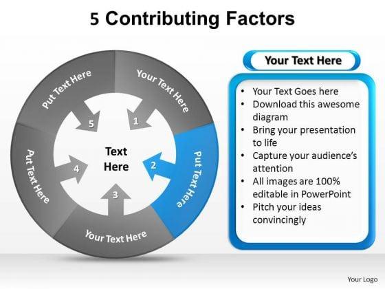 PowerPoint Process Teamwork Contributing Factors Ppt Design