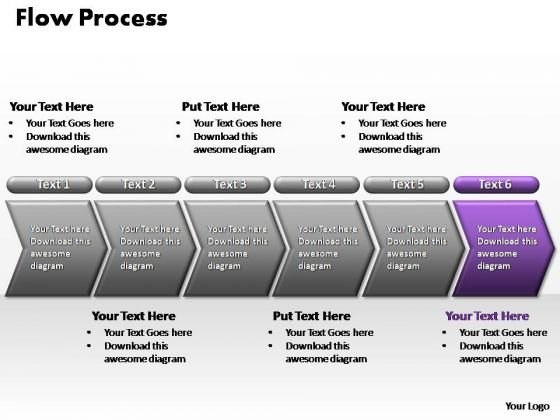 PowerPoint Process Teamwork Flow Process Ppt Design Slides