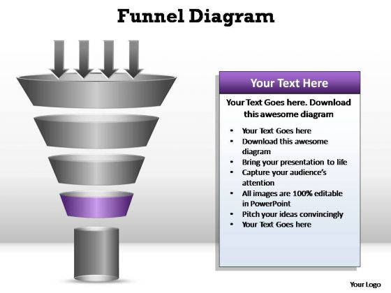 PowerPoint Process Teamwork Funnel Diagram Ppt Template