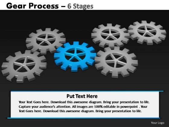 PowerPoint Process Teamwork Gears Process Ppt Backgrounds