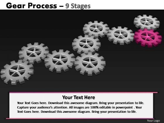 PowerPoint Process Teamwork Gears Process Ppt Presentation