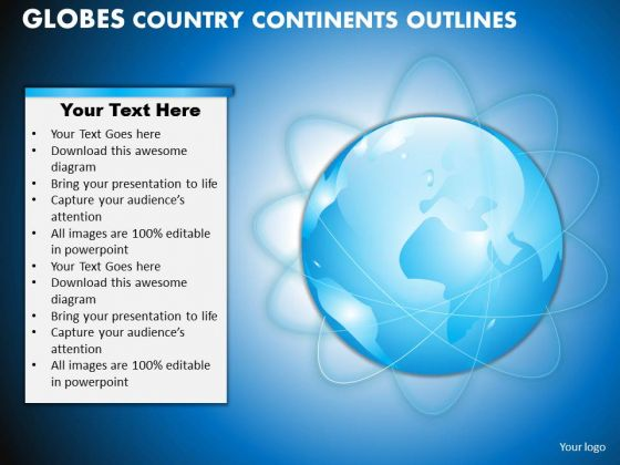 PowerPoint Process Teamwork Globes Country Ppt Layouts