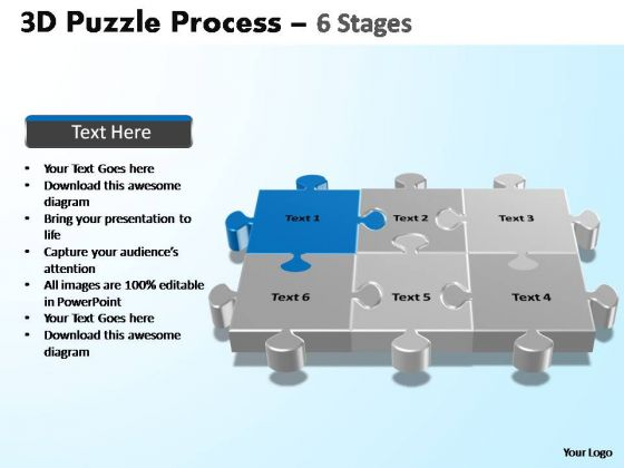 PowerPoint Process Teamwork Puzzle Process Ppt Presentation