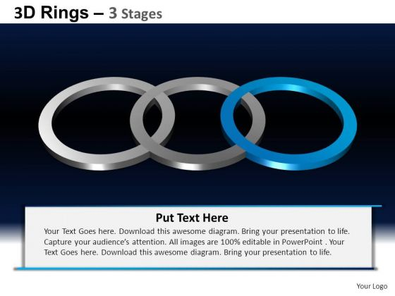 PowerPoint Process Teamwork Rings Ppt Design