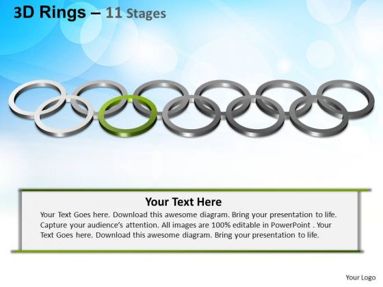 PowerPoint Process Teamwork Rings Ppt Theme