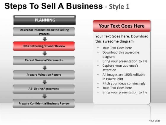 PowerPoint Process Teamwork Steps To Sell Ppt Theme