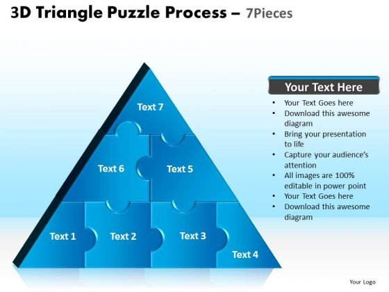 PowerPoint Process Teamwork Triangle Puzzle Ppt Presentation