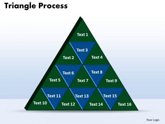 PowerPoint Process Triangle Process Editable Ppt Slide