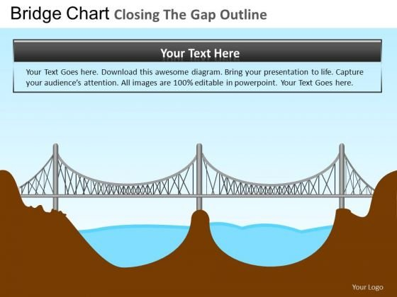 PowerPoint Slide Bridge Closing Gap Corporate Teamwork Ppt Layout