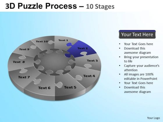 PowerPoint Slide Business Designs Puzzle Segment Pie Chart Ppt Themes