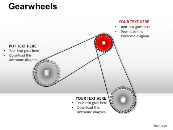 PowerPoint Slide Business Gearwheels Ppt Slide