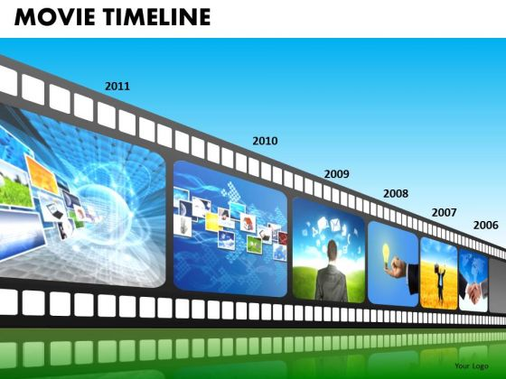 PowerPoint Slide Business Leadership Vision Movie Timeline Ppt Presentation Designs