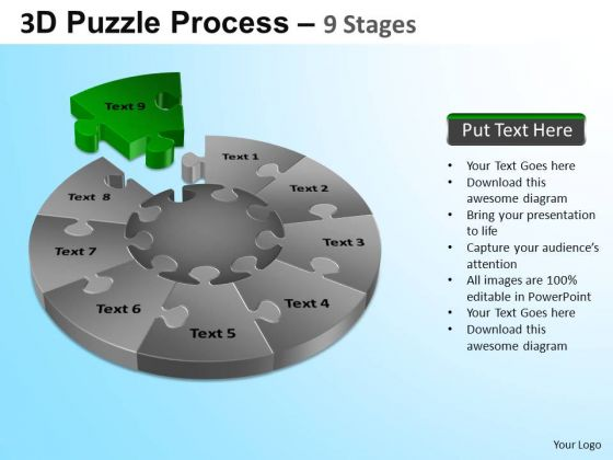 PowerPoint Slide Business Puzzle Segment Pie Chart Ppt Themes