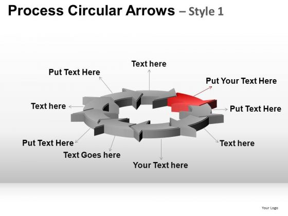 PowerPoint Slide Business Strategy Process Circular Arrows Ppt Themes