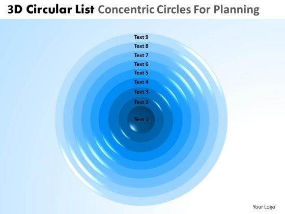 PowerPoint Slide Business Success 3d Cycle List Core Diagram Ppt Designs